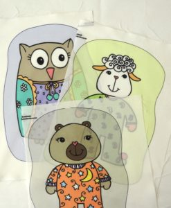 Estampas: brinquedos e decoração (coloridas)